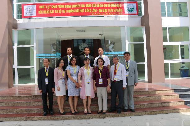Ngày 03/6/2017 Đoàn chuyên gia ĐGN tiến hành KSSB tại Trường ĐH Nông Lâm – ĐHTN