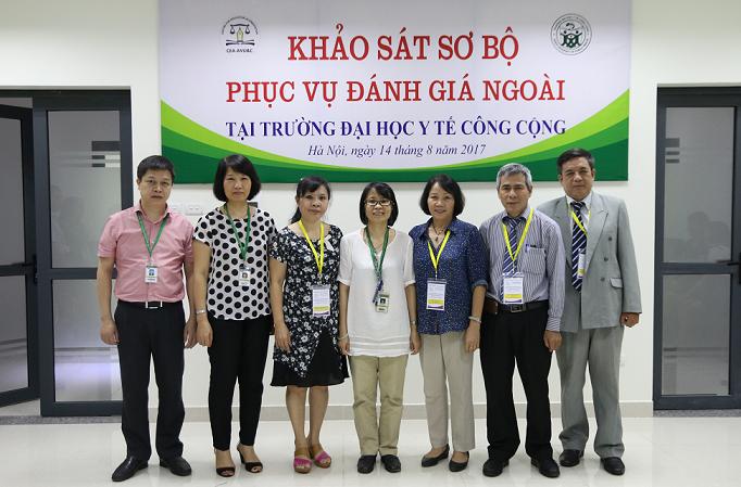 Ngày 14/8/2017 Đoàn chuyên gia ĐGN tiến hành KSSB tại Trường ĐH Y tế Công cộng - Bộ Y tế