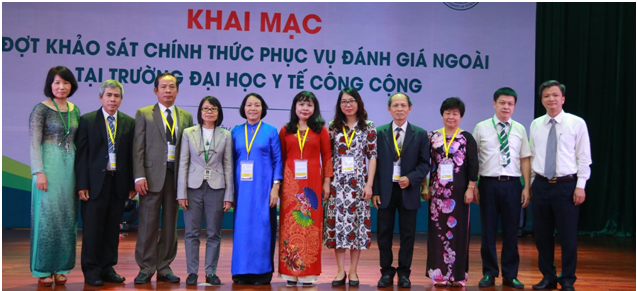 CEA-AVU&C Accreditors and Hanoi University of Public Health Leaders at the Opening Ceremony for Institutional Accreditation Review visit