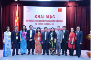 CEA-AVU&C Accreditors and Ha Noi University Leaders at the Opening Ceremony for Institutional Accreditation Review visit
