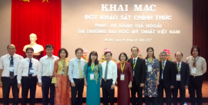 CEA-AVU&C Accreditors and Viet Nam University of Fine Art Leaders at the Opening Ceremony for Institutional Accreditation Review visit