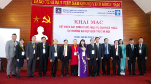 CEA-AVU&C Accreditors and Hanoi Architectural University  Leaders at the Opening Ceremony for Institutional Accreditation Review visit