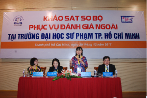 Assoc. Prof. Doctor Nguyen Phuong Nga, Director of CEA-AVU&C delivered a speech at the preliminary review visit at Ho Chi Minh University of Pedagogy