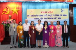 CEA-AVU&C Accreditors and Vietnam Aviation Academy Leaders at the Opening Ceremony for Institutional Accreditation Review visit