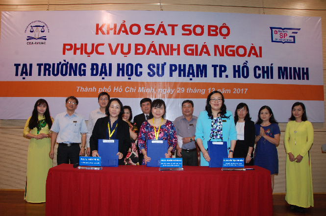 Signing of the Preliminary Report at Ho Chi Minh University of Pedagogy