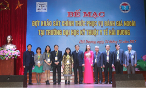 CEA-AVU&C Accreditors and Hai Duong Medical Technical University Leaders at the Closing Ceremony for Institutional Accreditation Review visit